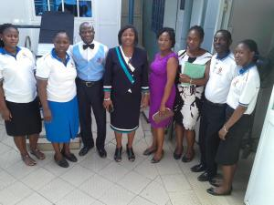 The Registrar of the National Board of Physiotherapist with other Staff of Mainland Physio-Fit Physiotherapy