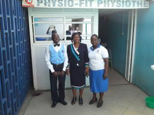 From the left: Physio-Fit Director, The Registrar, and Physio-Fit General Manager